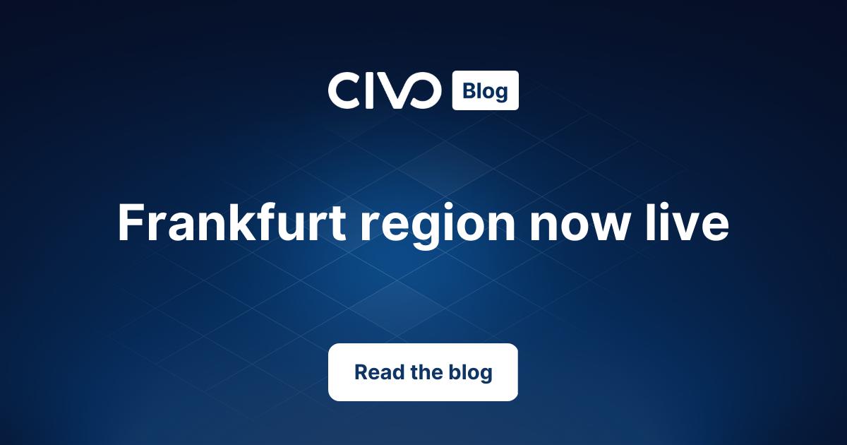 Frankfurt region now live thumbnail