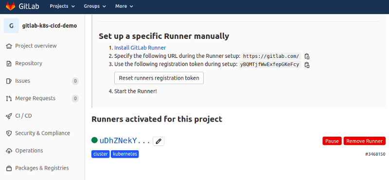 Gitlab runners in our cluster