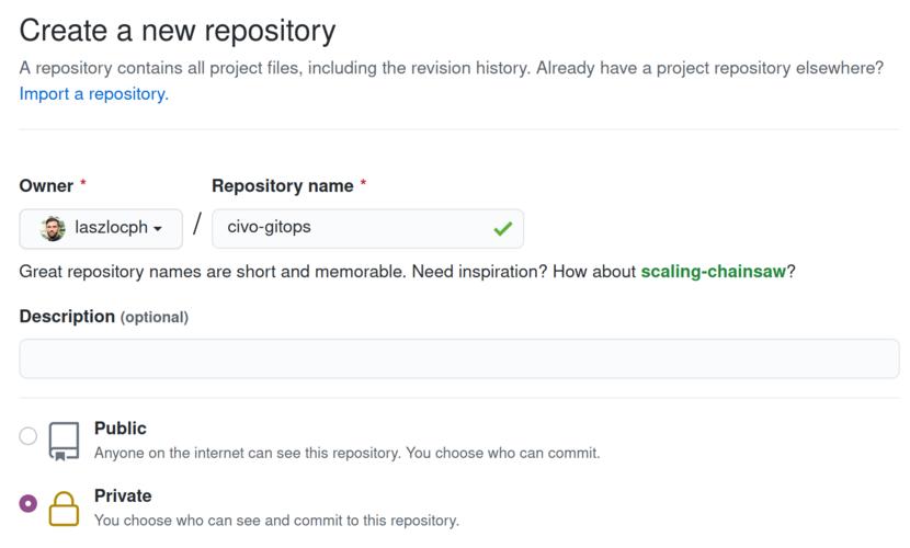 Create a GitOps repository