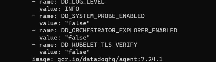 Datadog agent dashboard
