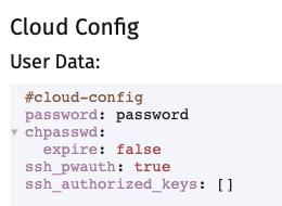 VM Cloud Config on Harvester
