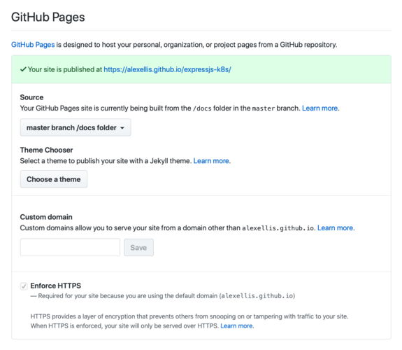 Enable GitHub pages in the repo settings