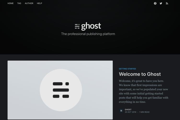 Keith Ghost Blog Screenshot