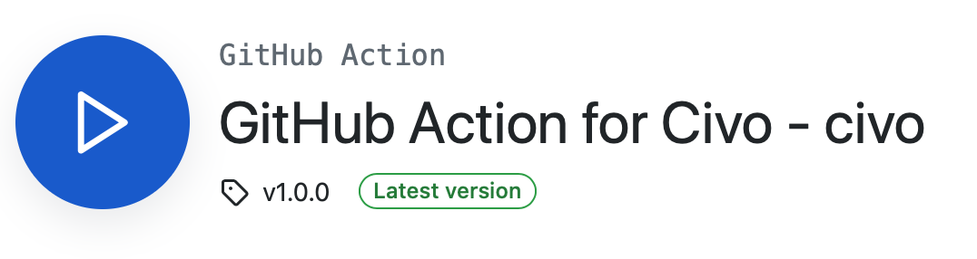 Screenshot of GitHub Action